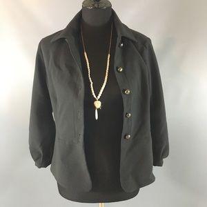 CAbi black button down jacket size 6